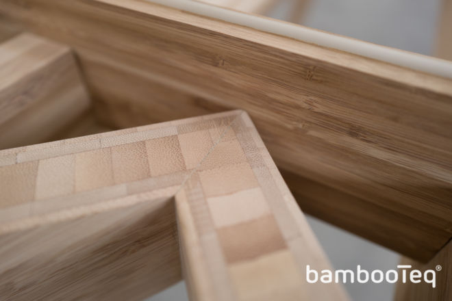Bamboo table design. Bamboe tafel design.