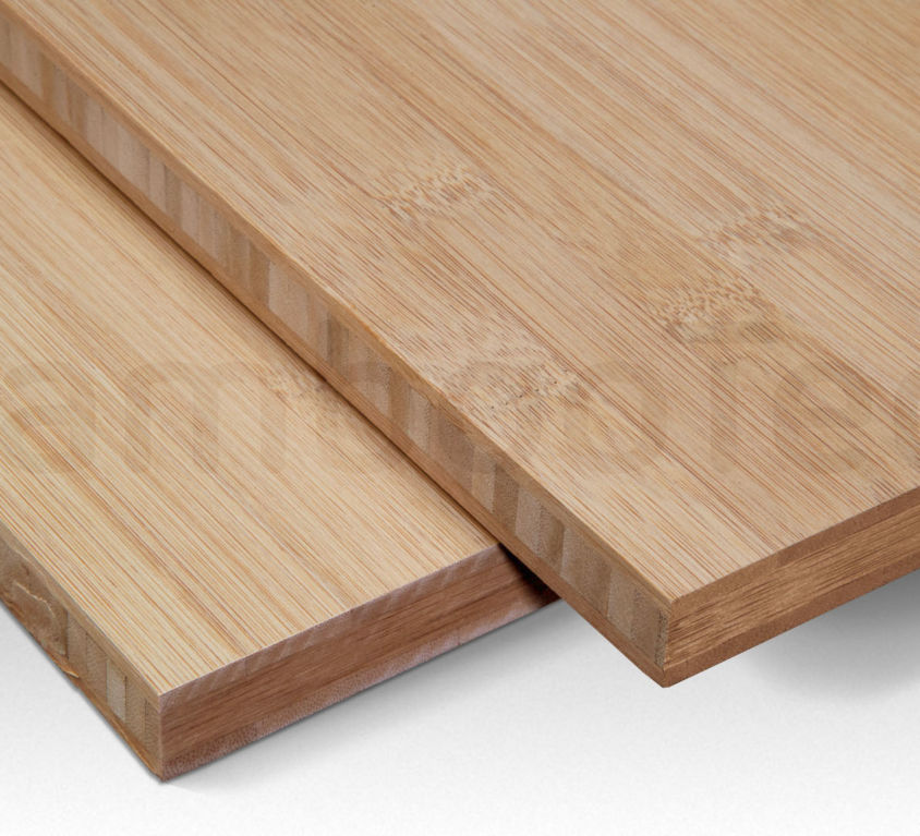 Bamboe plaat 16 mm plain-pressed 3 laags caramel 244 x 122 cm