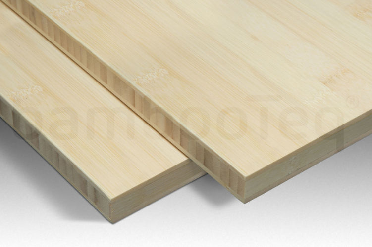 Bamboe plaat 16 mm plain-pressed 3 laags naturel 244 x 122 cm