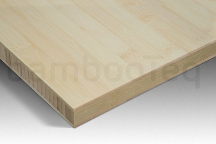 Bamboe plaat 30 mm plain-pressed 3 laags naturel 244 x 122 cm