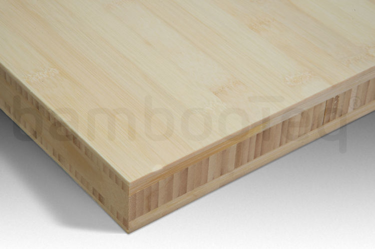 Bamboe plaat 40 mm plain-pressed 5 laags naturel 244 x 122 cm