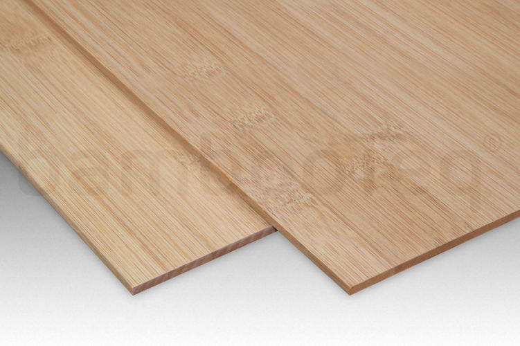 Bamboe plaat 5 mm plain-pressed 1 laags caramel 244 x 122 cm