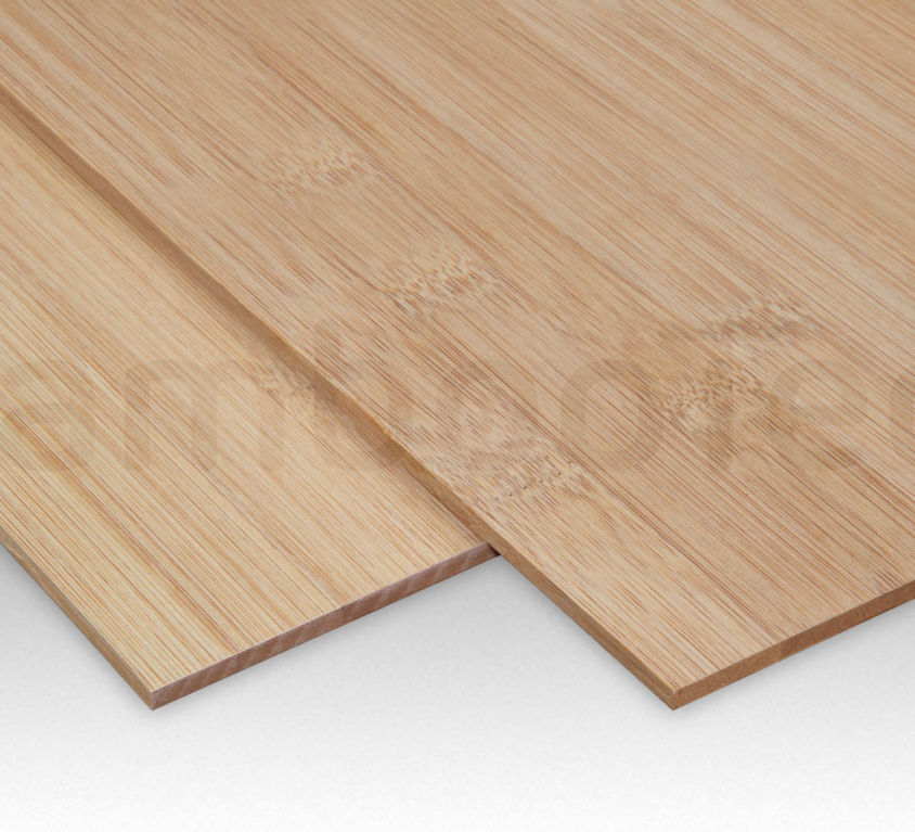 Bamboe plaat 3 mm plain-pressed 1 laags caramel 244 x 122 cm