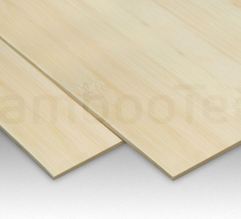 Bamboe plaat 3 mm plain-pressed 1 laags naturel 244 x 122 cm